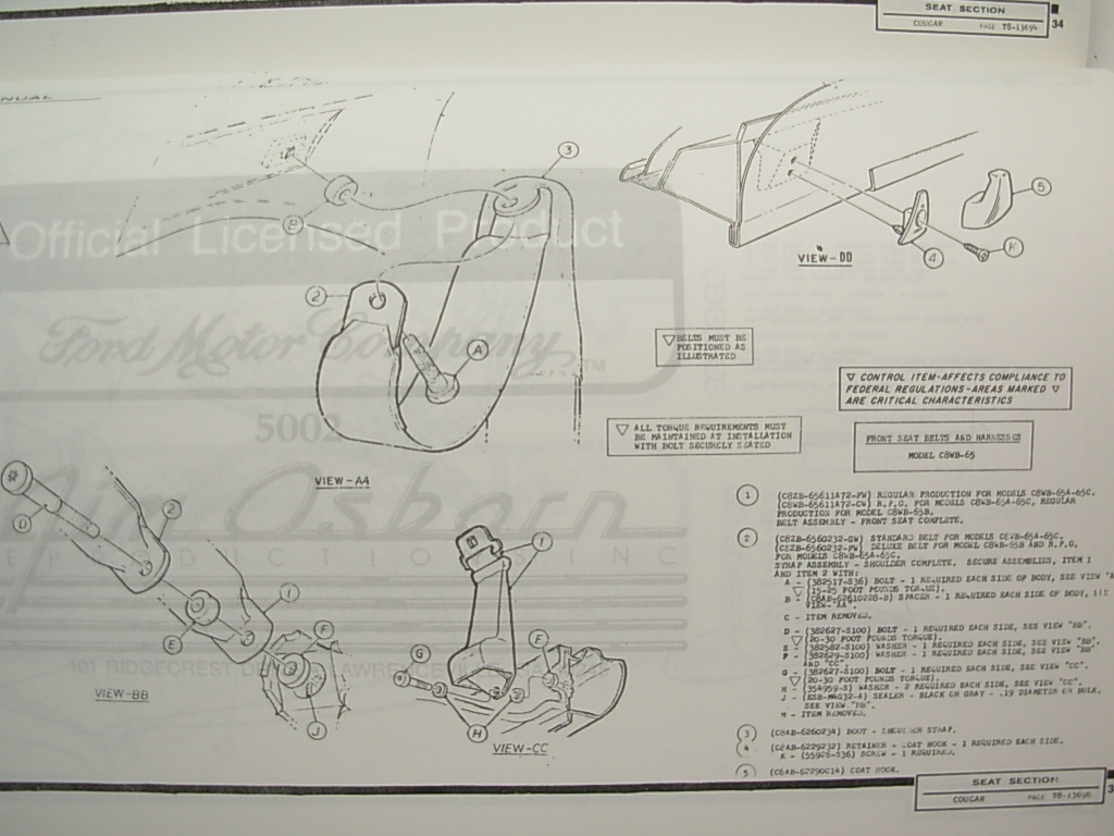 99 mercury cougar engine diagram assembly manual - engine equipment - ford products - repro ...