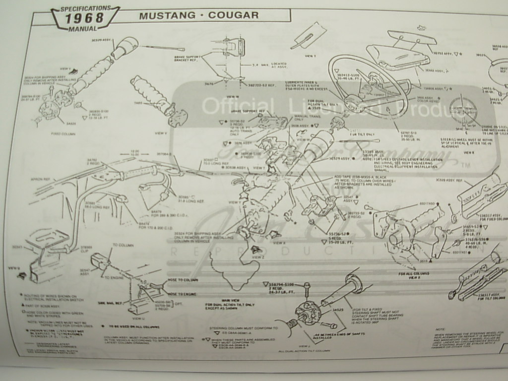 68 cougar wiring diagram  | 389 x 500
