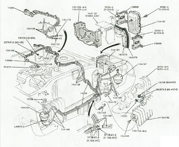 1999 Cougar Engine Compartment Diagram